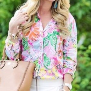 Lilly Pulitzer Target Nosey Posey Buttondown Top